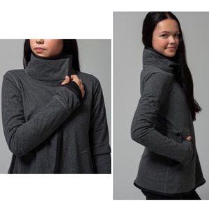 Ivivva Big Business Gray Fleece Wrap Jacket